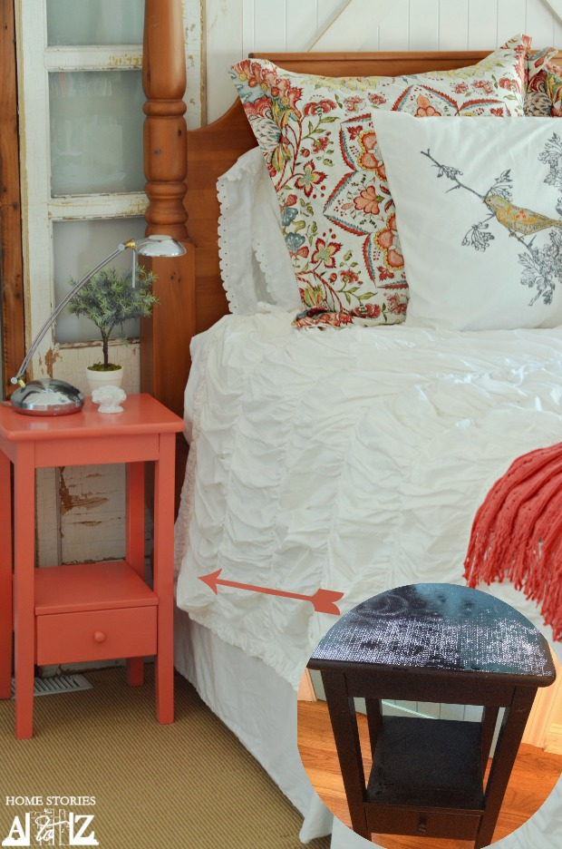 coral gray bedroom