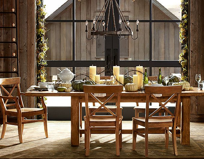 fall dining room pottery barn