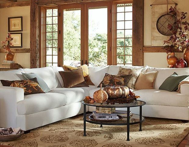 Fall Living Room Pottery Barn
