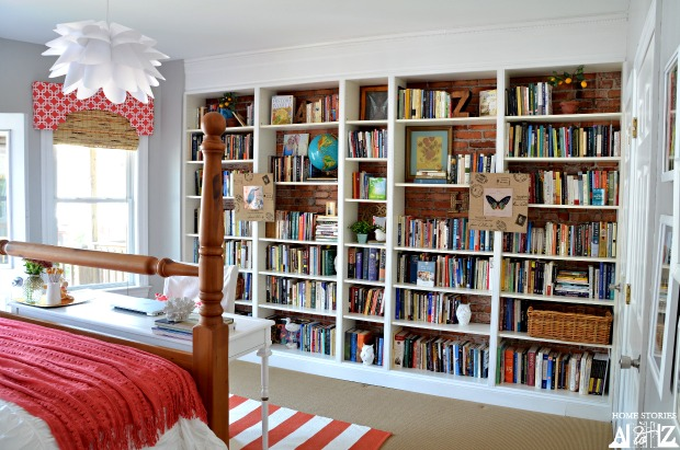 Ikea billy built in bookshelves bookcase styling home stories a to z - Adorable dollhouse bookshelves kids to decorate the room ...