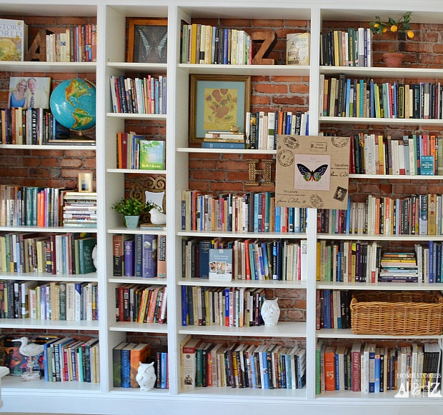 ikea built in bookshelves