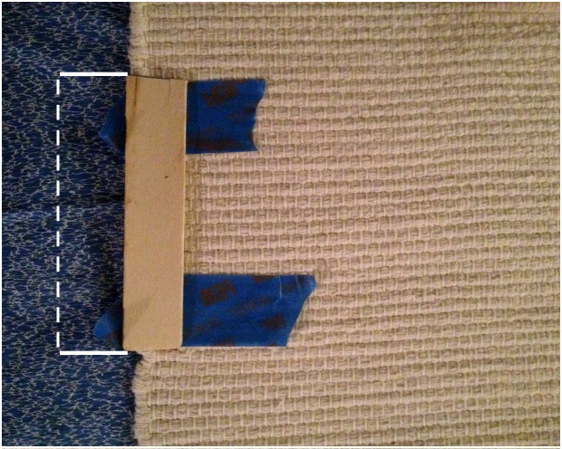 Simply Take Your Cut Paint Stick To Determine Where Your Tape Should Go On  Your Rug To Create Stripes.