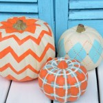 How to Paint Chevron, Plaid, and Argyle Pumpkins