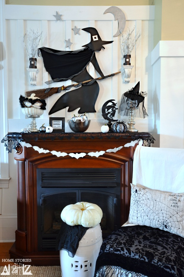 Witchy Halloween Mantel