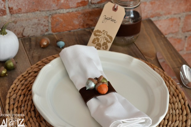acorn napkin ring craft
