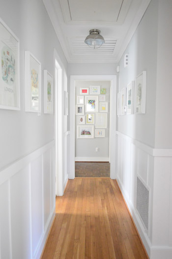 board and batten hallway