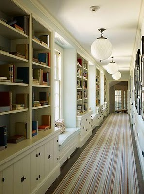 bookcase hallway