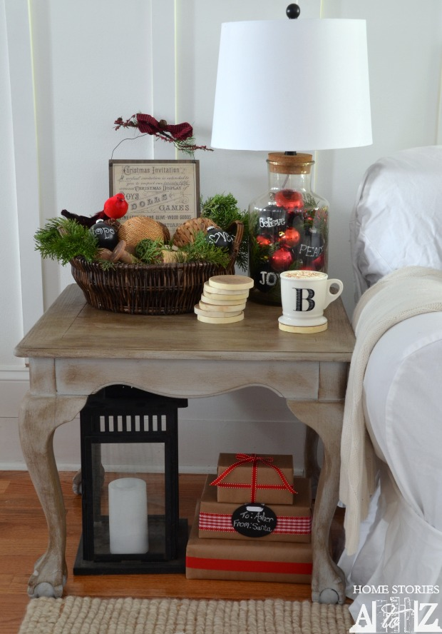 christmas styled coffee table