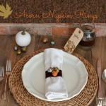 DIY craft acorn napkin rings