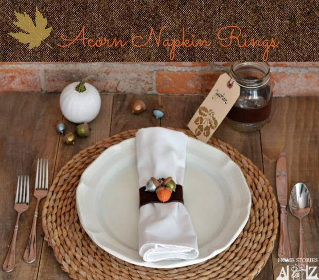 DIY craft acorn napkin rings