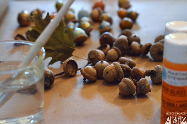 paint acorns