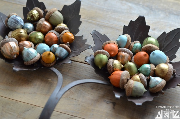 paint fall acorns