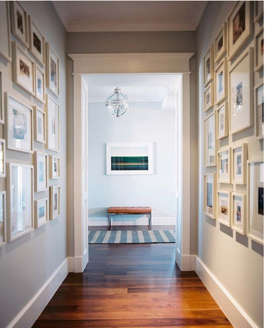 Squeezing Style Into A Narrow Hallway. Picture Frame Hallway Home Design Ideas