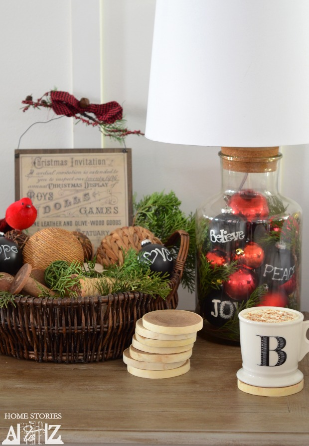 christmas styled end table