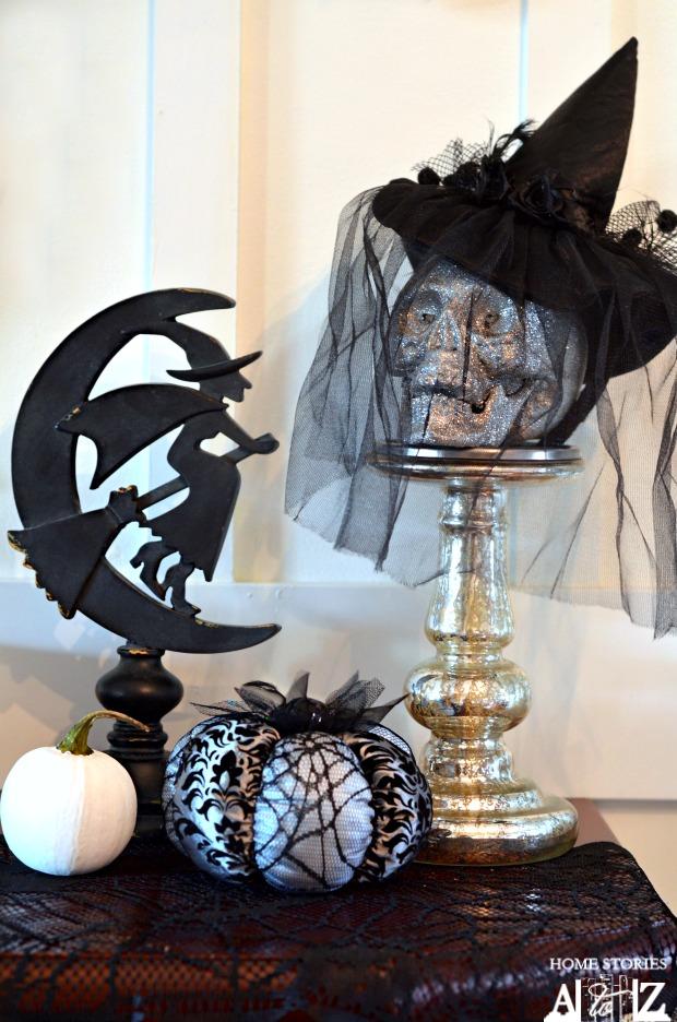 white black silver halloween