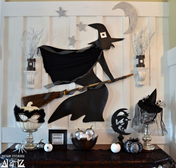 witch halloween mantel - Halloween Mantel Decor