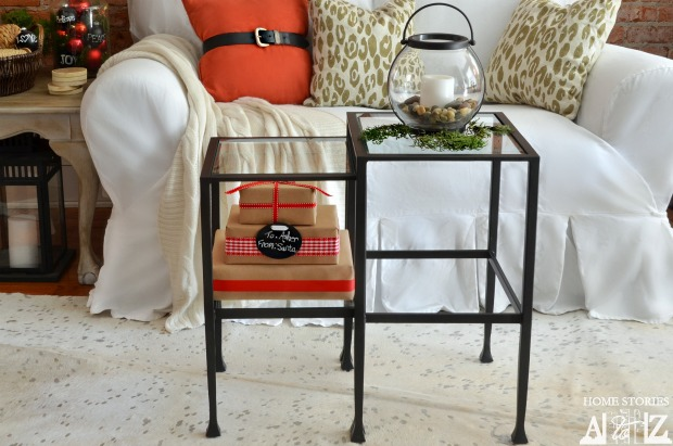 Nesting tables close-up