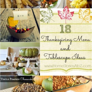 Thanksgiving Menu and Tablescape Ideas