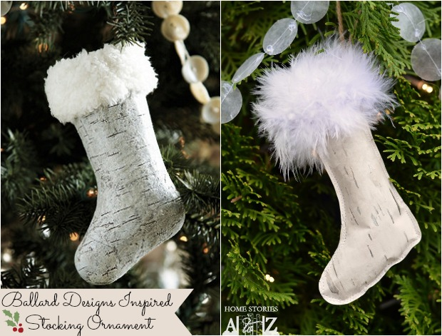 ballard designs inspired stocking ornament home stories
