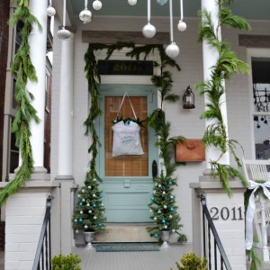 christmas porch idea