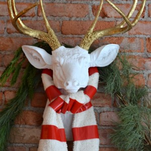 diy deer head faux