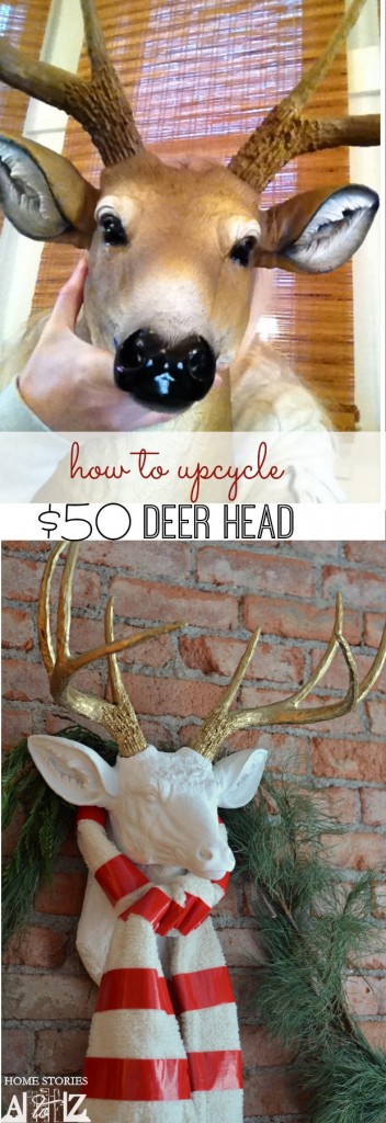 faux deer head diy