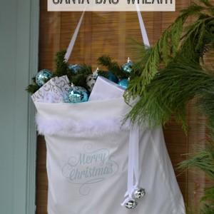 how to make santa bag wreath