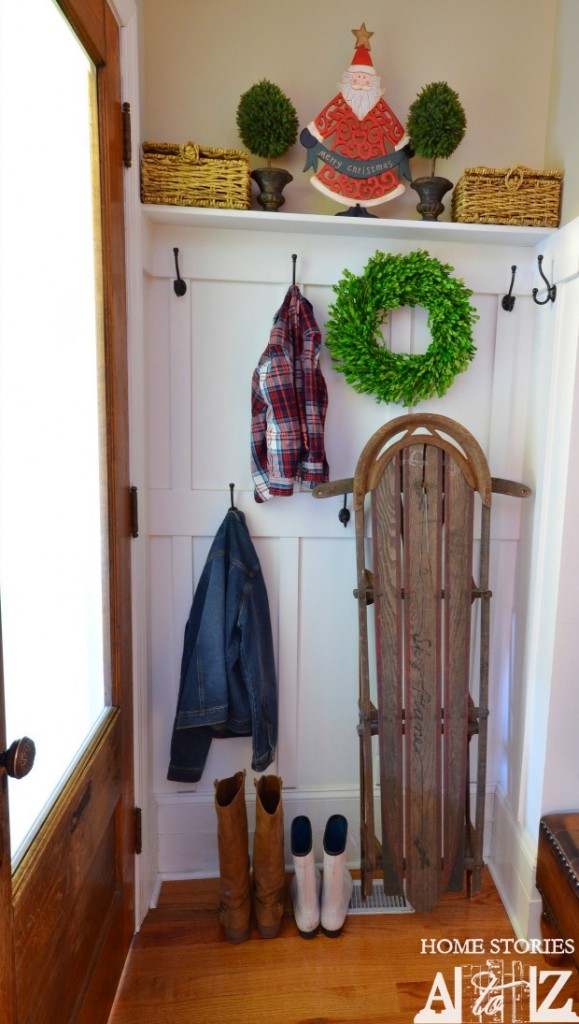 Christmas mudroom