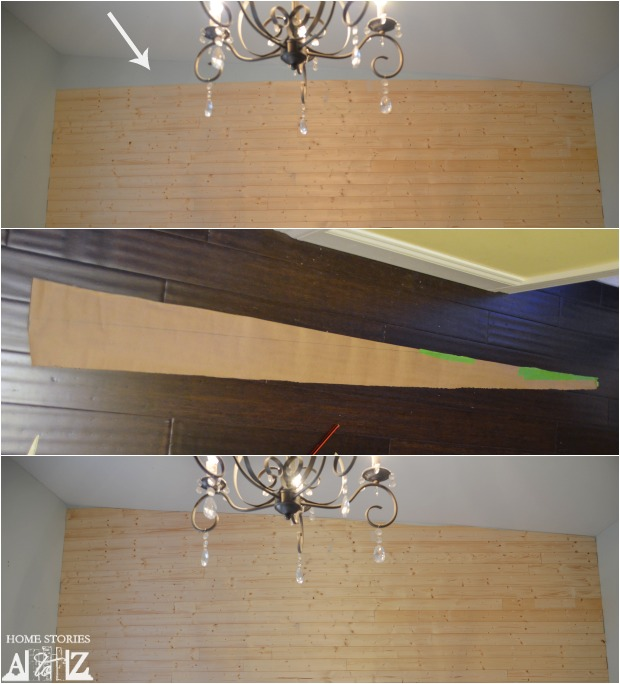 How to cut plank wall boards.