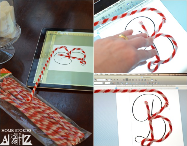 How to make pipe cleaner monograms