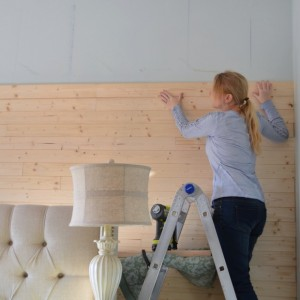 how to diy plank wall