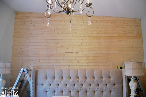 how to install DIY plank wall