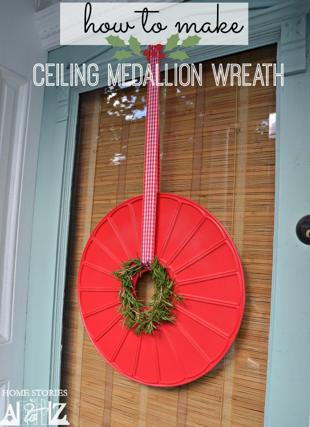how to make ceiling medallion wreath