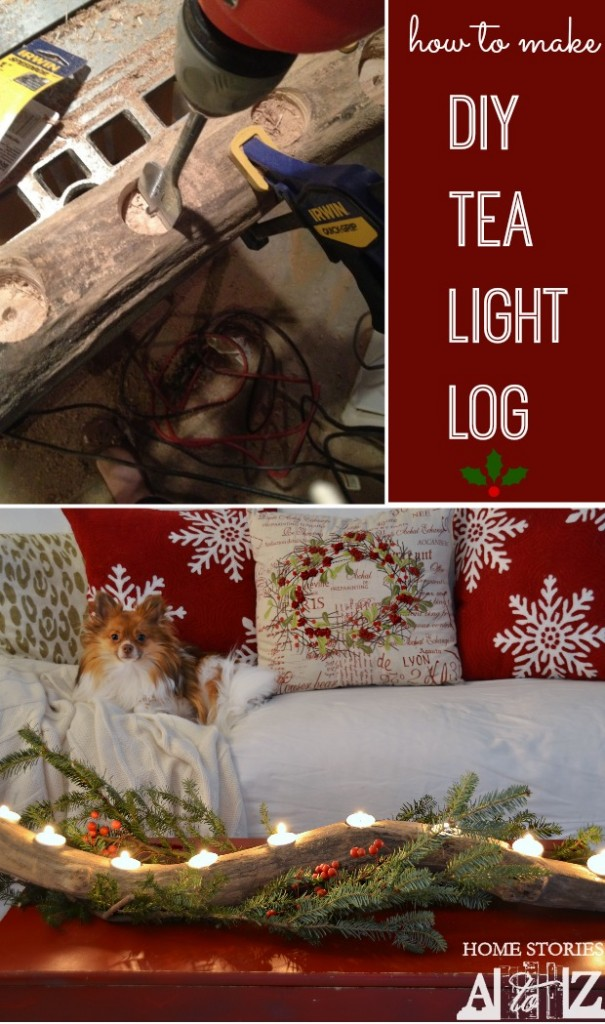 how to make diy tea light log