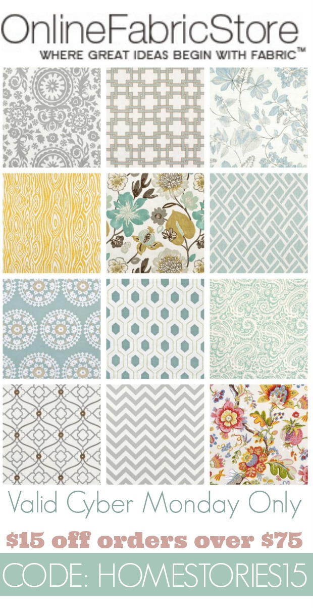 Online Fabric Cyber Monday Deal - Home Stories A to Z