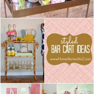 styled bar cart ideas
