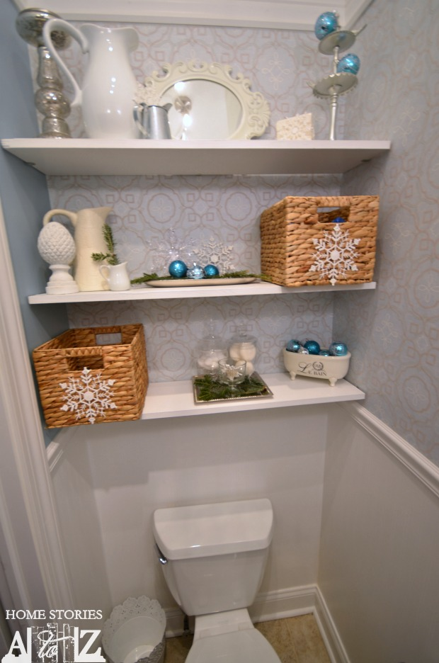 How to make a snowflake chandelier - Floating shelf ideas for bathroom ...