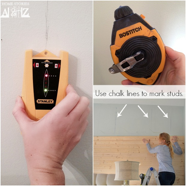 use chalk lines to mark studs