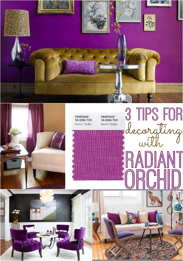 How to decorate with Pantone's Radiant Orchid
