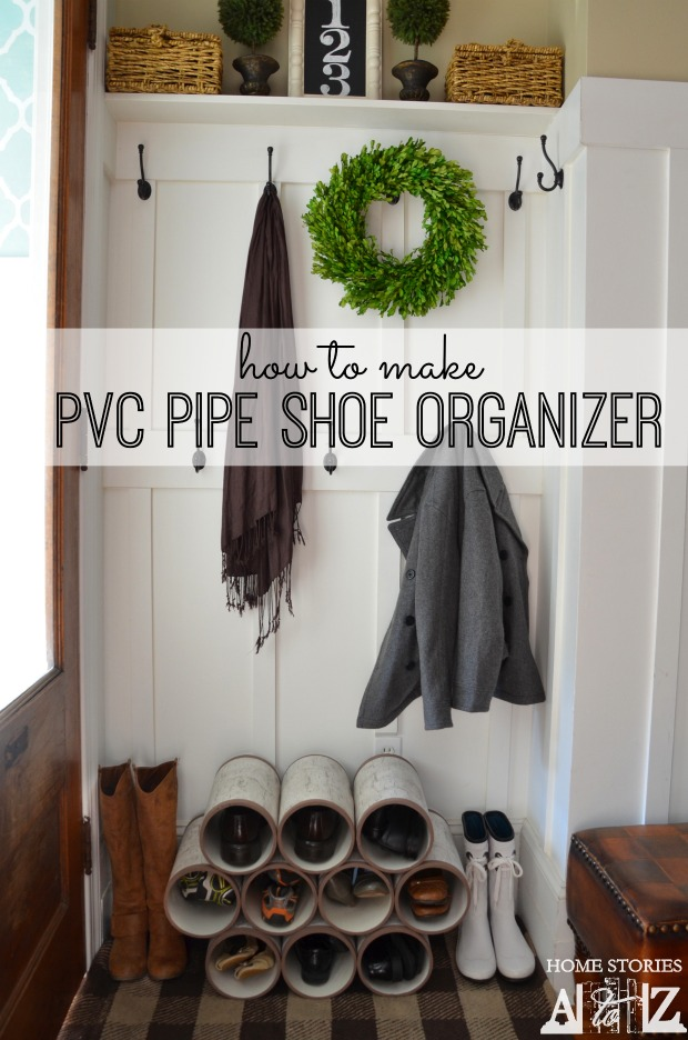 Genial How To Make PVC Pipe Shoe Organizer