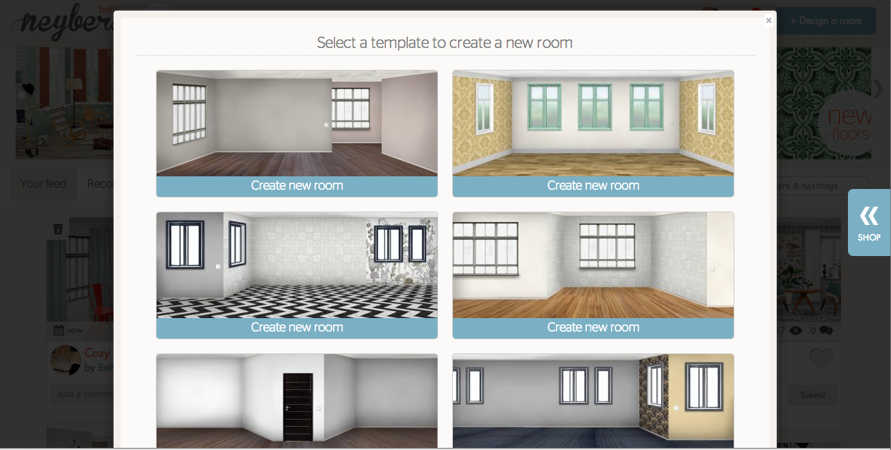 Design rooms with new app neybers for Designing your new home