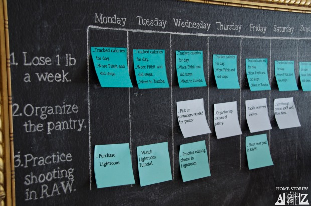 Calendar Year Goals : How to keep those new year s resolutions diy sticky note