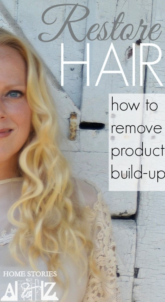 how to remove hair product build up