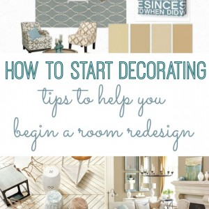 how to start decorating