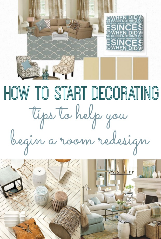 How to start decorating tips to begin a room redesign for Want to decorate my living room