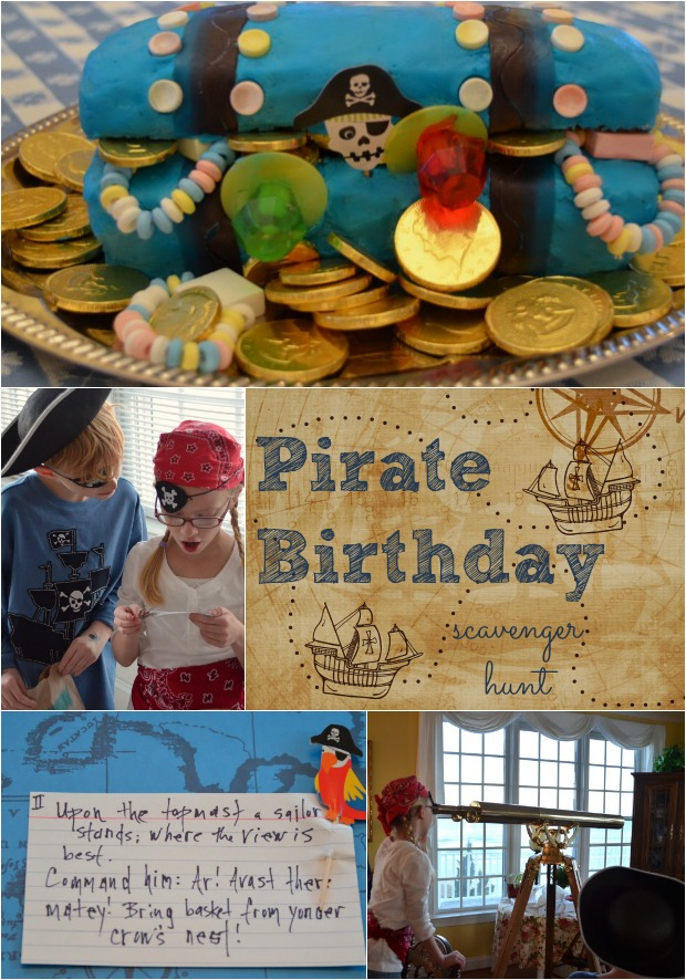 Pirate Birthday Party Scavenger Hunt Idea