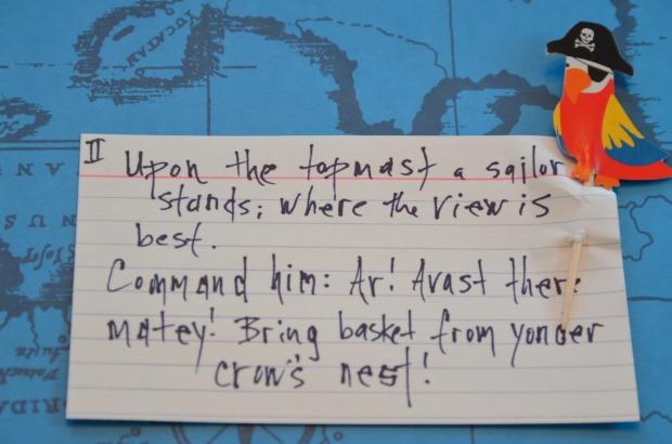 Pirate Party Treasure Hunt Clue 2