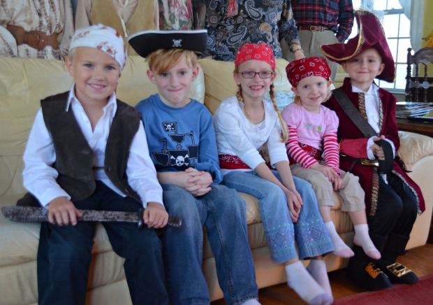 pirates at pirate birthday party