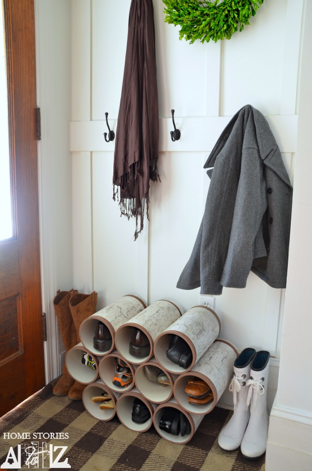 Pvc Pipe Shoe Organizer How To Home Stories A To Z