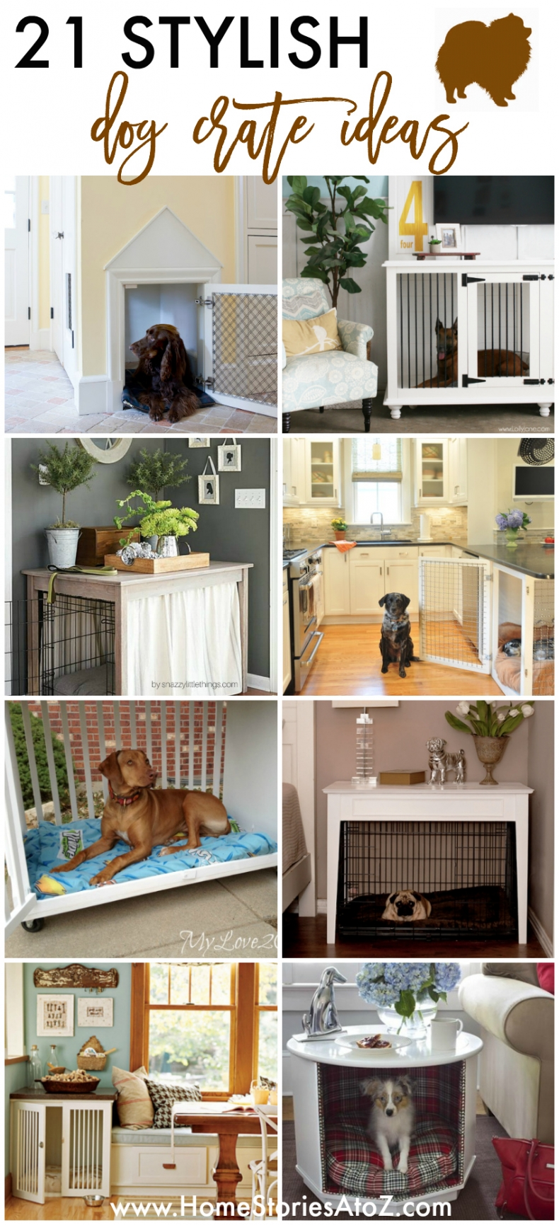 21 Stylish Dog Crate Ideas - Home Stories A to Z